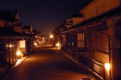 夜の町並み_F